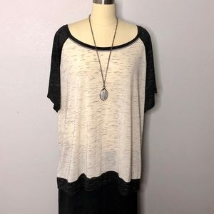 Torrid Sz 4 Relaxed Baseball Style Color Block Top